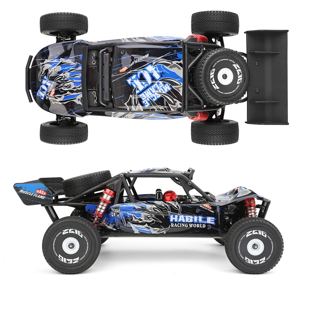 Wltoys 124018 4WD Aluminum Alloy Chassis Zinc Alloy Gear High Speed Racing Car 60km/h 1/12 2.4GHz RC Car Off-Road Drift Car RTR enlarge