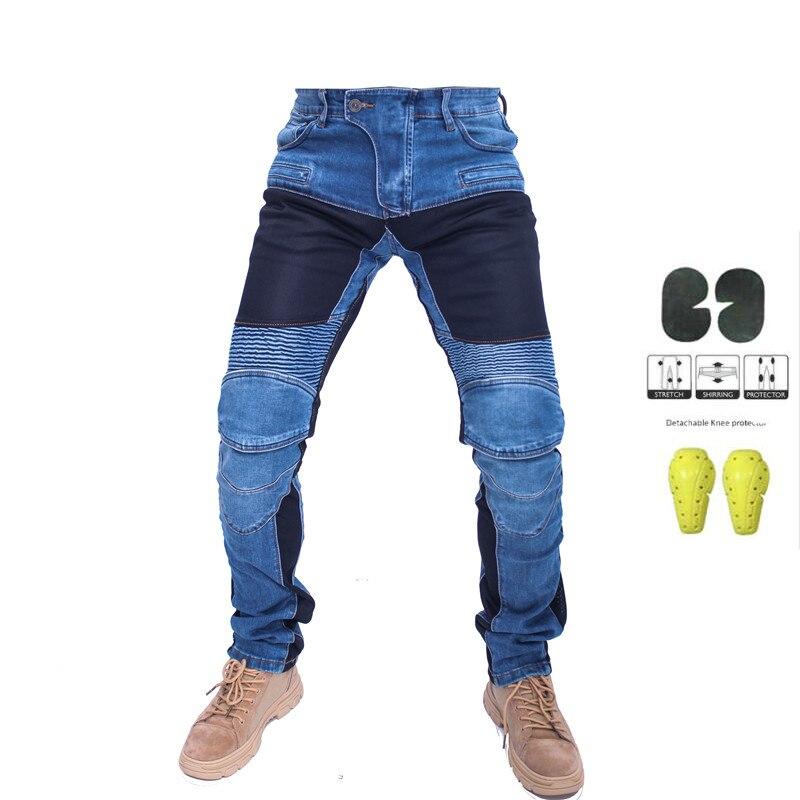 KOMINE Jeans pour motos PK719   Jean de loisirs tout-terrain pour hommes/pantalon de cyclisme avec équipement de protection et maille, nouvelle collection