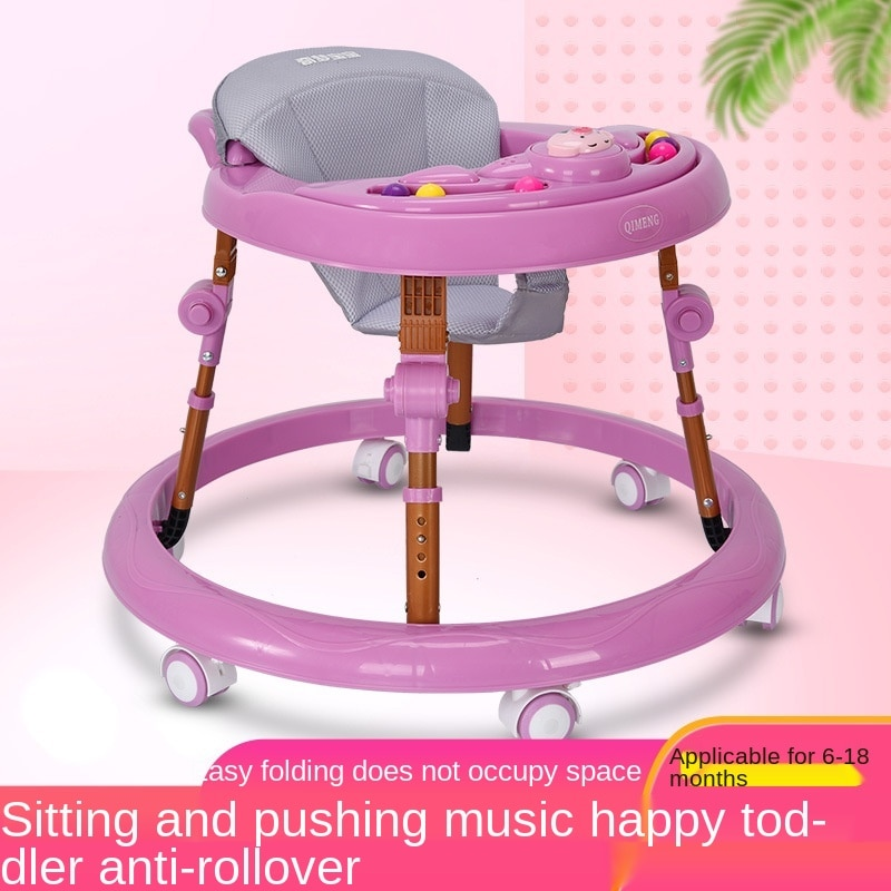 New Baby Walker with Music 8-speed Slide Anti Rollover Baby Boy Can Ride on Baby Walker Wholesale enlarge