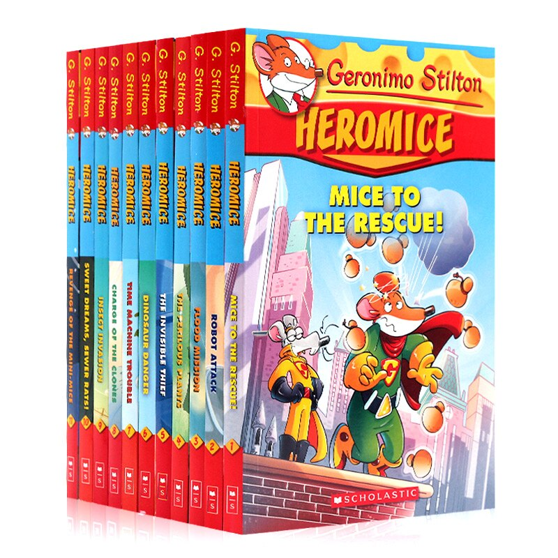11 Books Picture Geronimo Stilton Heromice Children Reading Book Young-adult Novel English Comic Story For Age 5-12 Kawaii Toys