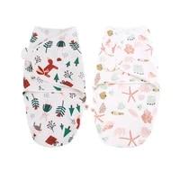 2pcs cotton comfortable baby sleeping blanket animal marine pure cotton newborn baby towel sleeping bag suitable for seasons