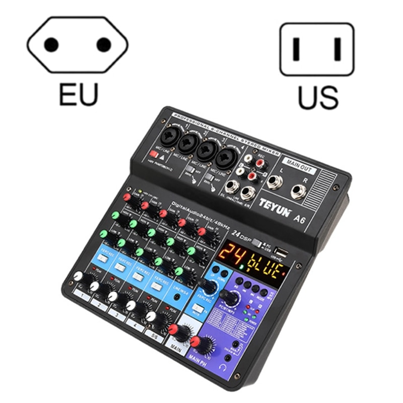 Microphone Sound Mixer Sound Card Karaoke Mixer Mixing Console Amplifier M5TE enlarge