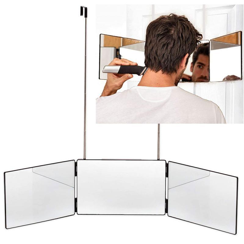 حار 3 طريقة مرآة نظام ل الذاتي قص الشعر مرآة DIY بها بنفسك حلاقة أداة الإبداعية قابل للتعديل Mk4 حمام المرايا المنزل الحمام تركيبات