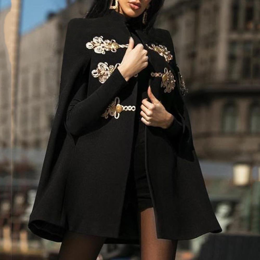 Primavera capa de lã feminina medieval retro gótico preto capes xale casaco ponchos mujer invierno elegantes cabo poncho feminino