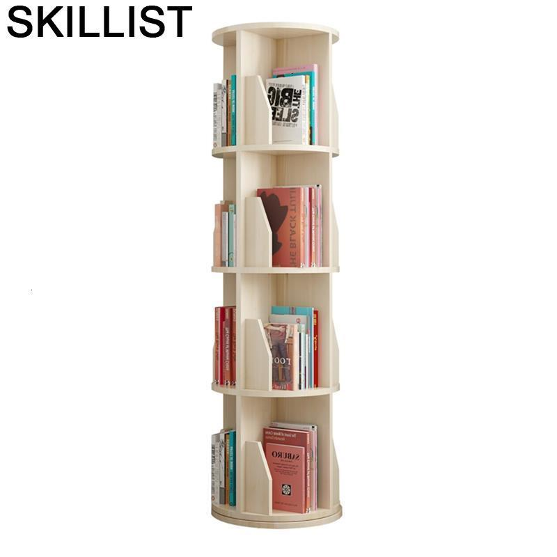 Vitrina industrial Decoratie Mueble De Madera rotable, muebles modernos para el hogar, Librero, caja protectora para libros