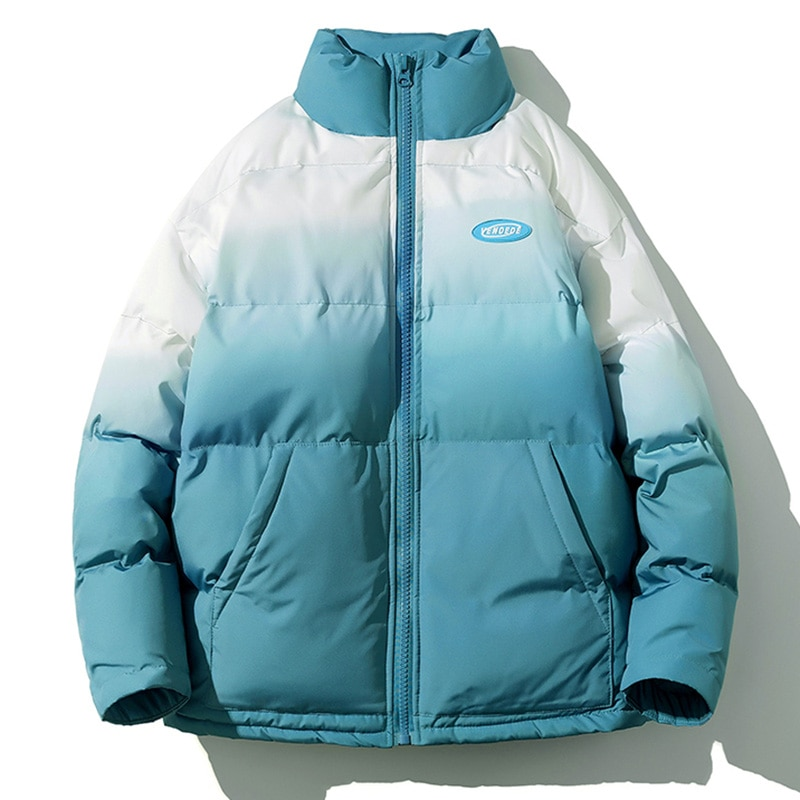 Abrigo de algodón de color degradado para Mujer, Abrigo de invierno, Abrigo...