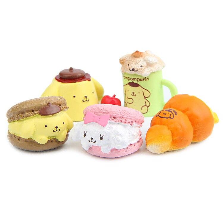 1Piece Kawaii Food Figurine Cute Pudding Dog Fairy Garden Miniatures Ornaments Home Decoration Accessories Resin Craft Supplies