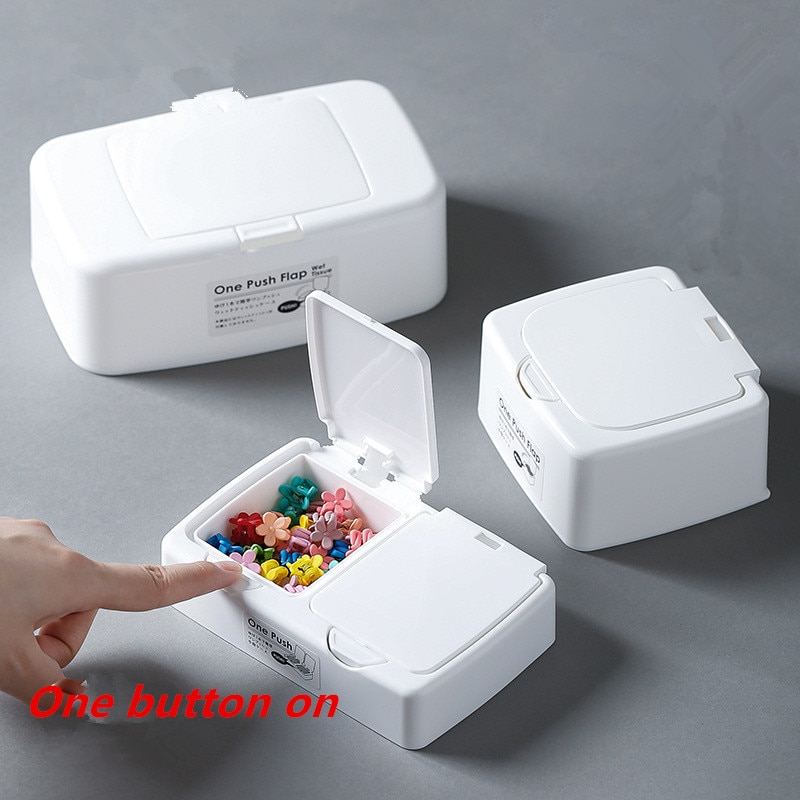 Button Storage Box Office/Living Room Desktop Car Tissue Box floss/Aid band/Sundry/Cotton Swab Rubber Band N6N001B15