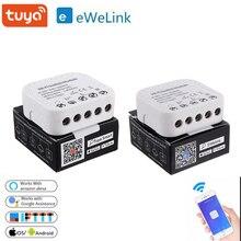 Tuya/ Ewelink Smart Wifi commutateur Module bricolage disjoncteur App contrôle 16A prise en charge dun commutateur intelligent externe fonctionne avec Alexa Google Home