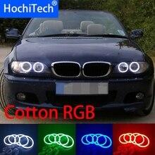 HochiTech-Kit 5050 SMD coton multicolore RGB   Lot dyeux dange avec télécommande pour BMW E46 convertible facelift avec xénon