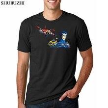 T-shirt Men Manga Parody Goldorak / UFO Robot Grendaizer Papers of the vehicle T Shirt Funny Shirts