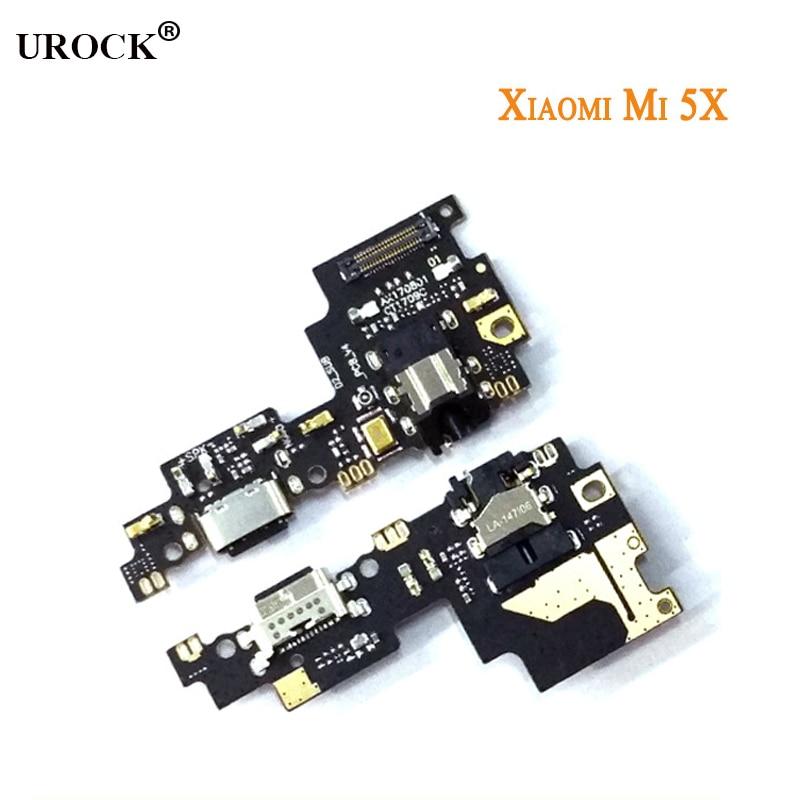 (5 piezas) de carga Flex Cable para Xiaomi Mi A1 Mi 5X USB placa PCB Junta cinta conector de la base del puerto del cargador