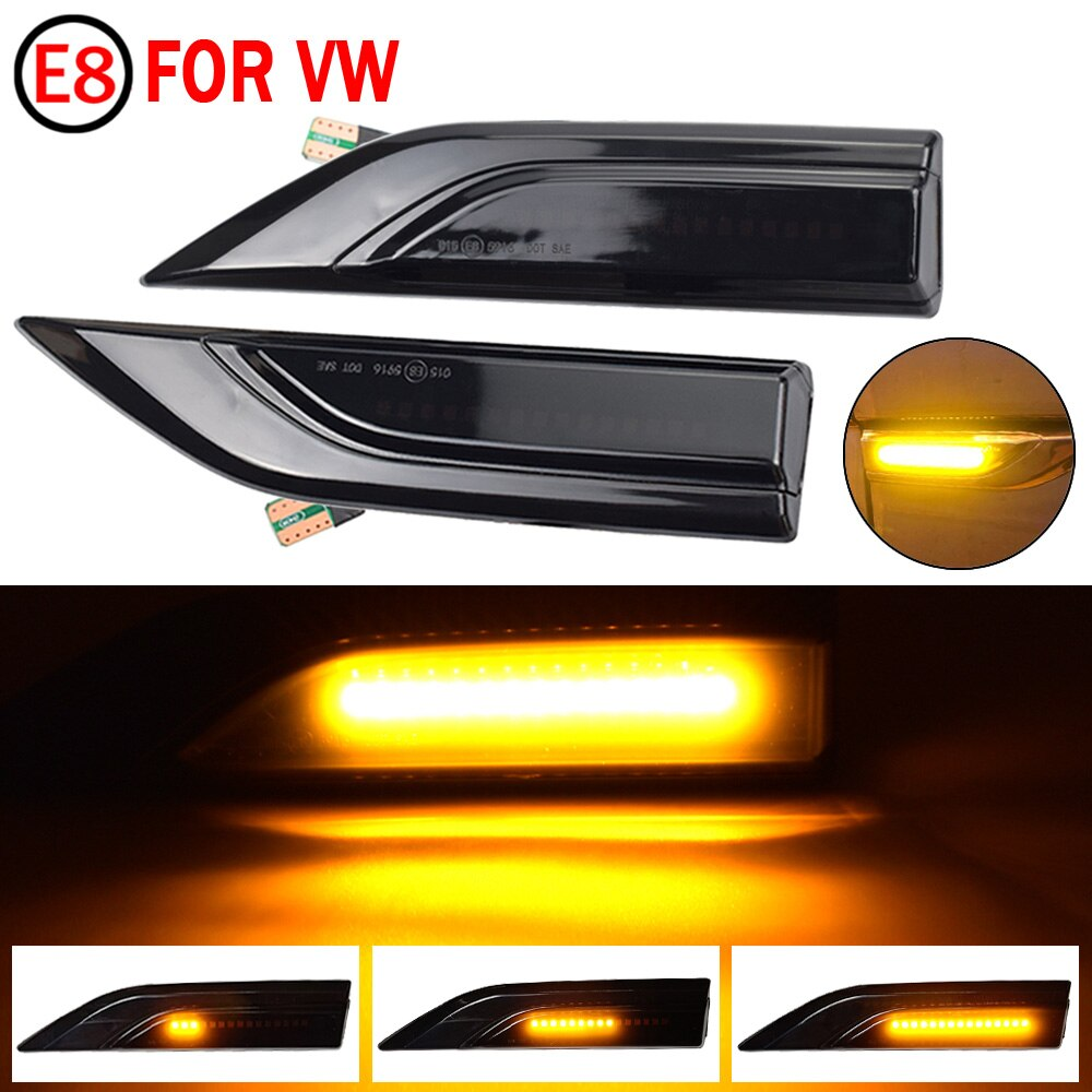 2pcs LED Dynamic Turn Signal Side Marker Light Sequential Blinker Light For VW Transporter T6 Multivan T6 Caddy 2015-2019