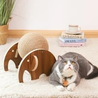 cartoon shaped sisal rope elephant cat catching ball toy cat scratching board cat climbing frame pet supplies