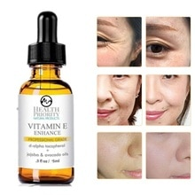 Minch Vitamin E Face Serum 100% Organic Skin Oil Anti-Wrinkle Essence Oil Moisturizing Tight Whiteni