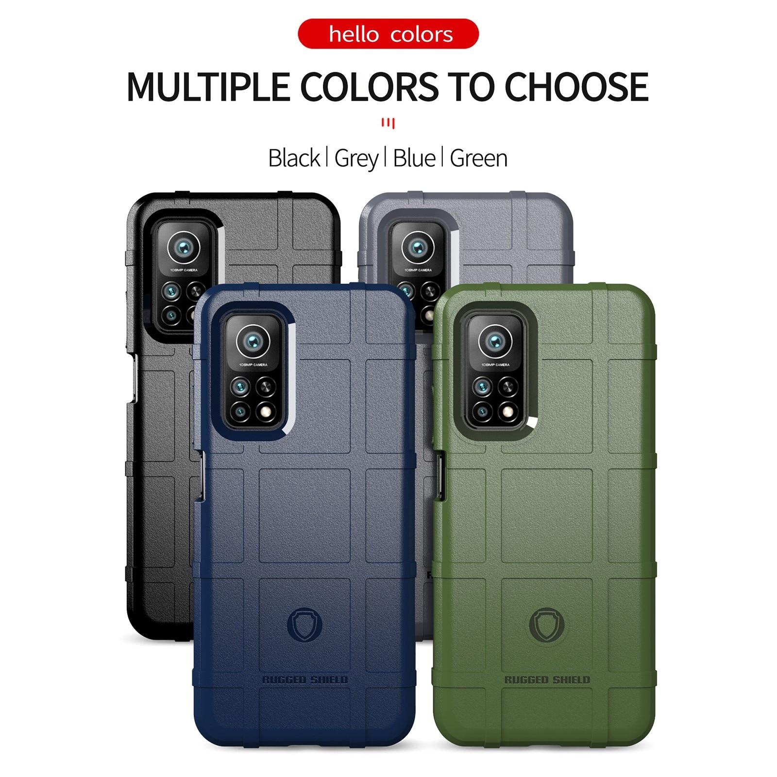 Mi 10t pro 5g cor vidro temperado caso para xiaomi caso do telefone móvel 6.67 Polegada silm telefone volta capa anti-queda para mi 10t pro