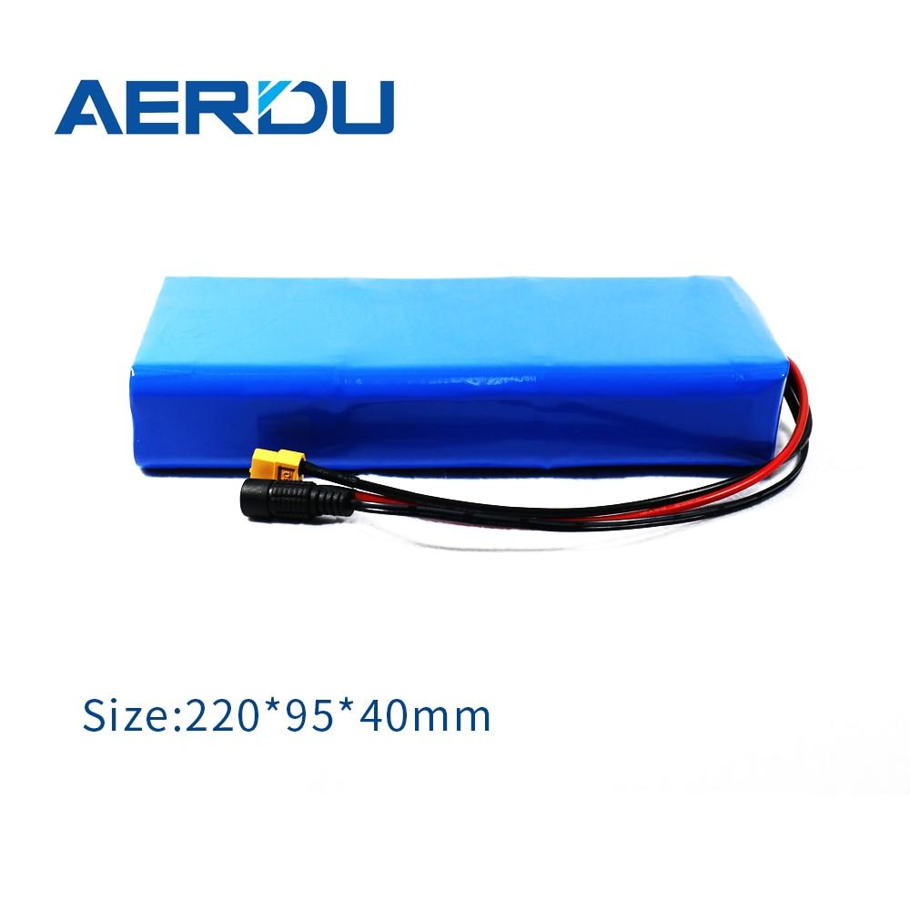. AERDU 24 فولت 17.5AH 6S5P 18650 بطارية ليثيوم أيون حزمة 3500MAH 450 واط المدمج في 25a Bms للدراجات الكهربائية دراجات نارية موتور Ebike