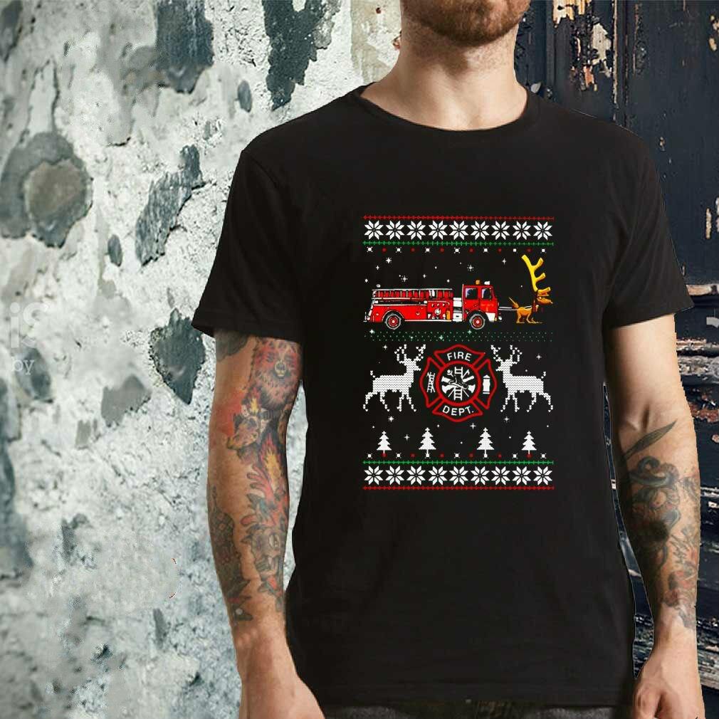 Camiseta Unisex Firefighter Fire Dept feo Navidad
