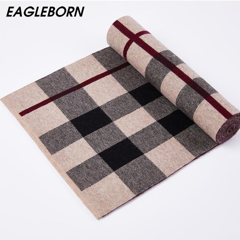 Scotland Lattice Scarf Men Winter 100% Wool Scarf High Quality Cashmere Scarf Classic Lattice Khaki Black Grey Fashion Scarf