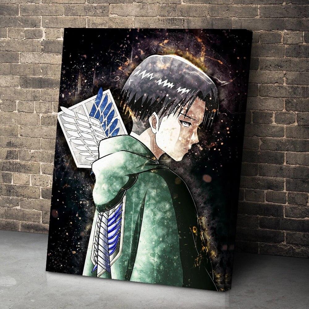 pinturas-en-lienzo-de-attack-on-titan-para-decoracion-del-hogar-arte-de-pared-modular-de-anime-imagenes-de-levy-ackerman-cartel-impreso-hd-para-sala-de-estar-sin-marco