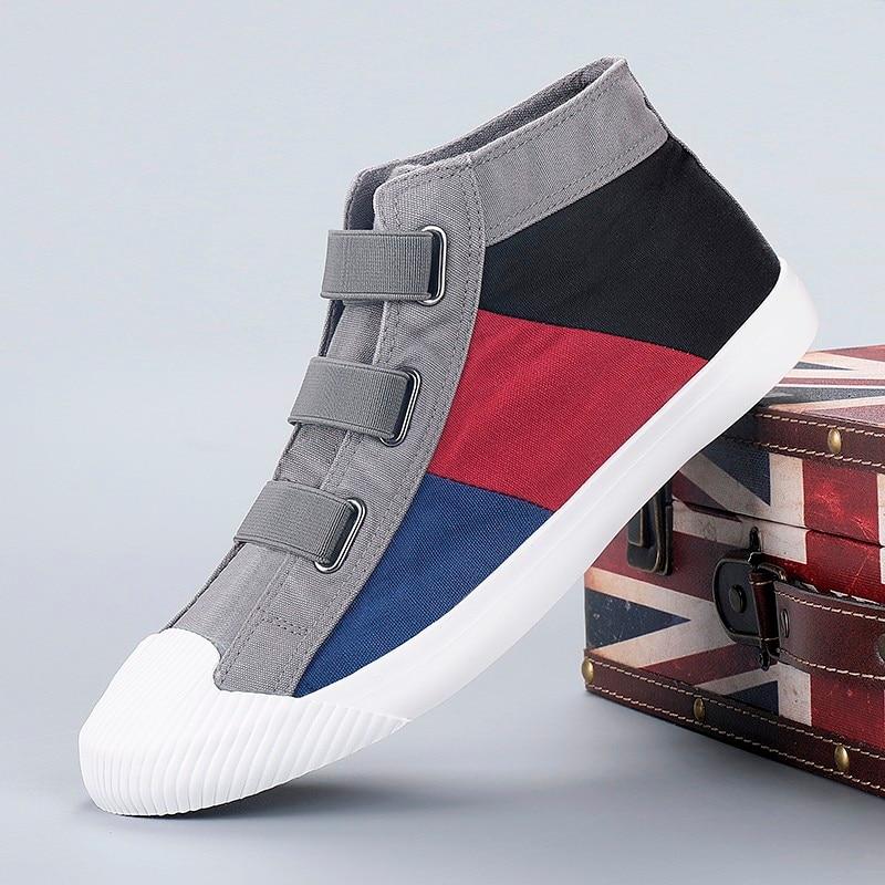 Zapatos de lona de colores para hombre, zapatillas ligeras y transpirables para exteriores, informales, a la moda, primavera y otoño
