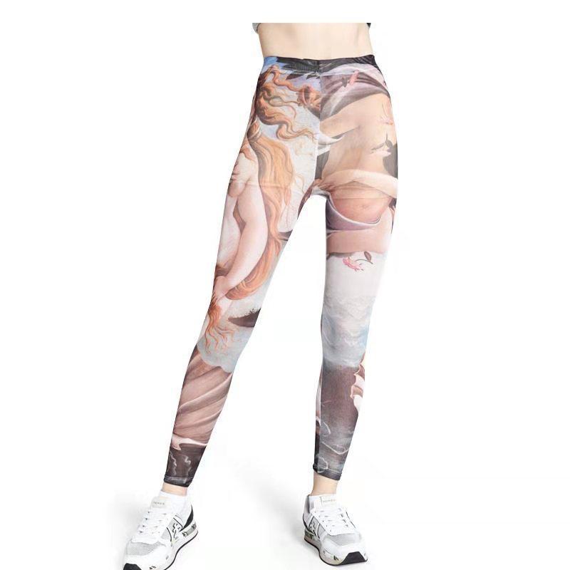 Z-ZOUX polainas de las mujeres de impresión de malla de Leggings de talle alto Slim largo polainas suelta plus damas pantalones de fondo 2019 nuevo