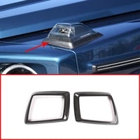 for mercedes benz g class w463 g350 g400 g500 2019 2020 100 real carbon fiber engine cover turn signal bracket car accessories