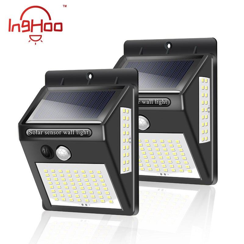 IngHoo 20/100 LED Solar Light PIR Motion Sensor Outdoor Waterproof IP65 Lighting Decorative Street Light Security Wireless Wall