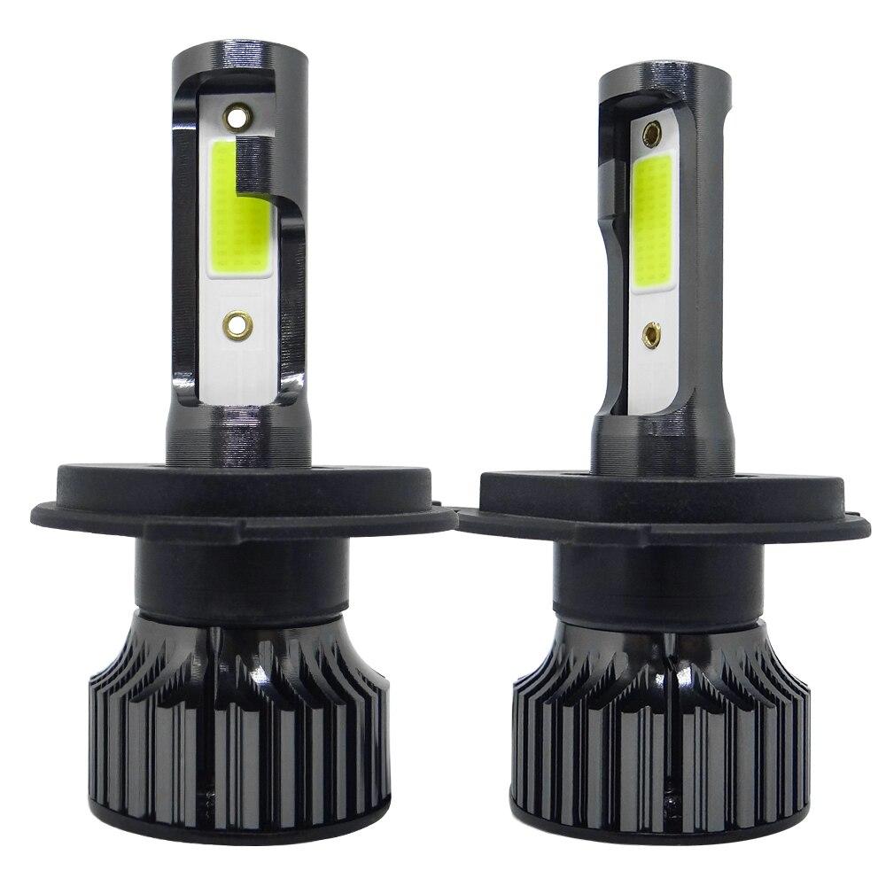 COOLFOX 2 шт. C6 автомобильные светодиодный лампы H1 H3 H7 светодиодные Canbus фары 8000LM HB3 HB4 автомобильные светодиодный ные лампы H4 H11 9005 9006 880 H27 лампы 12 ...