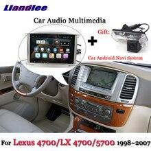Liandlee-système Android de voiture   Pour Lexus LX 4700 / LX4700 / 4700/5700, Radio stéréo BT GPS, Navi carte, écran de Navigation multimédia