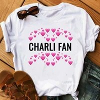 womens clothing charli damelio coffee graphic print tshirts femme t shirt female harajuku kawaii clothes hip hop t shirt