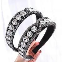 2021 full crystal rhinestones headbands for womens headdress sparkly padded diamond crystal hair bands party hair accessories