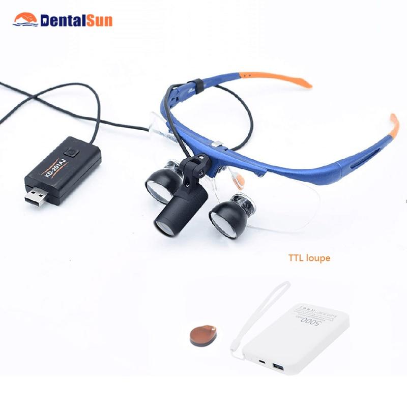 Lupa dental FD-504G-3 tipo quadro fixo médico ttl lupa com luz