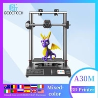 geeetech offical a30m mix color 3d printer with recovery breaks large volume printer 320320420mm double z axis diy kit
