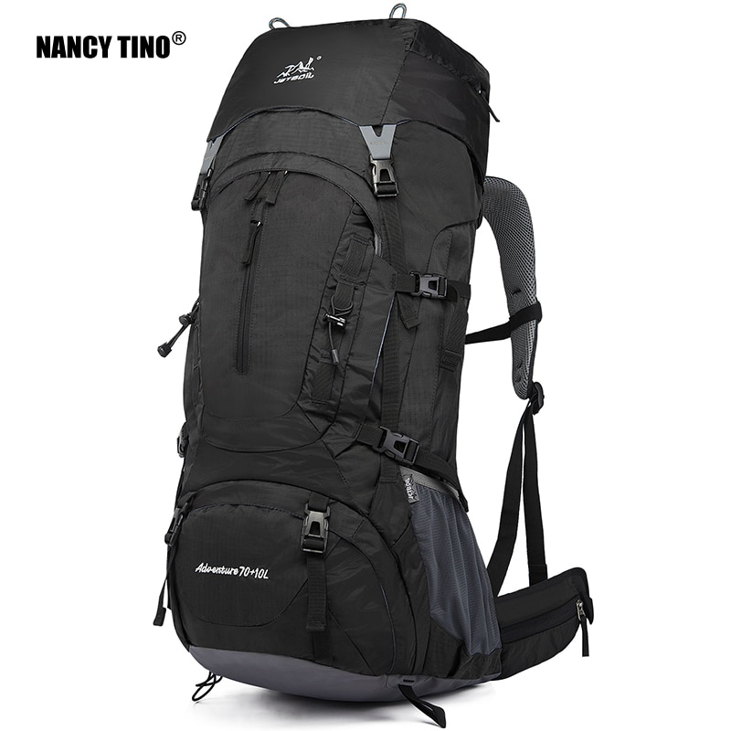 NANCY TINO Outdoor Mountaineering Bag Large Capacity Waterproof Wear-resistant Travel Bag Hiking Camping Backpack New Unisex