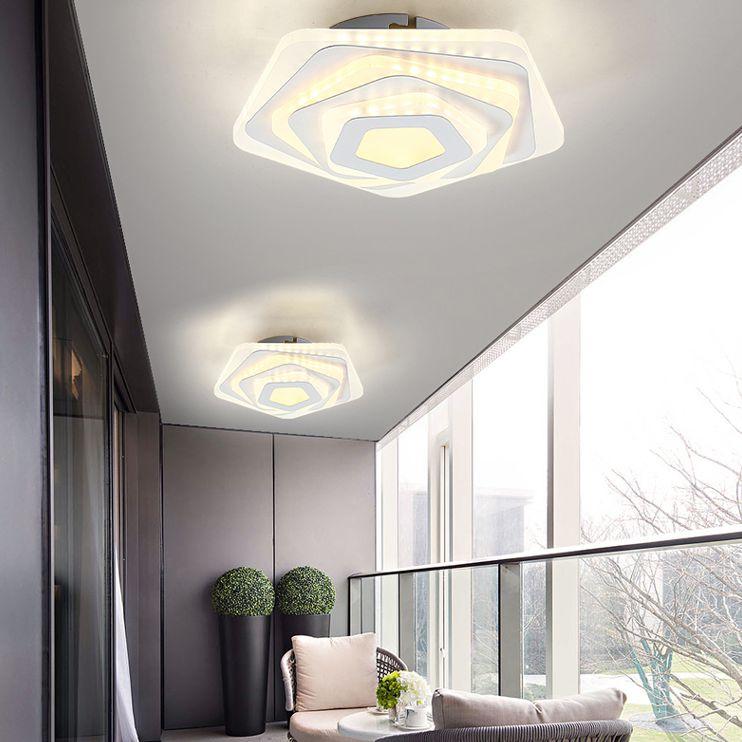 moderno contratado lampada do corredor absorve cupula lampada luz do norte da europa