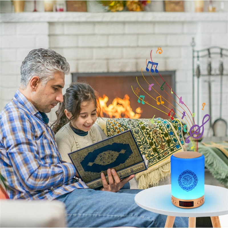 Wireless Quran Speaker Dropshipping Night Light LED Touch Coran Lamp AZAN Time Veilleuse Coranique Music Box Bluetooth Speaker enlarge