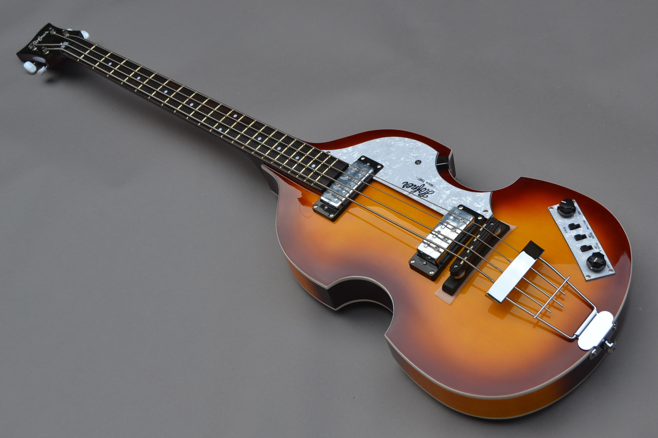 Lower Price Icon Series Vintage Sunburst Violin Bass 4 Strings Electric Guitar Free Shipping Top Quality