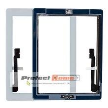 20 teile/los Für iPad 3 Touch Screen Glas Digitizer montage A1416 A1403 A1430 freies durch dhl + home-taste + klebstoff + kamera halter