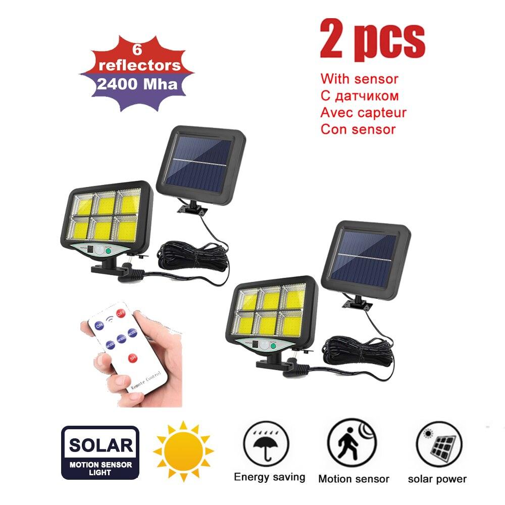 whole sale series Solar Powered landscape light Garden Security Night Wall Split Solar Lamp motion sensor flood light remote con