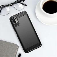 for cover xiaomi poco m3 pro 5g case for xiaomi poco m3 pro 5g bumper silicone carbon fiber back case for poco m3 pro 5g cover