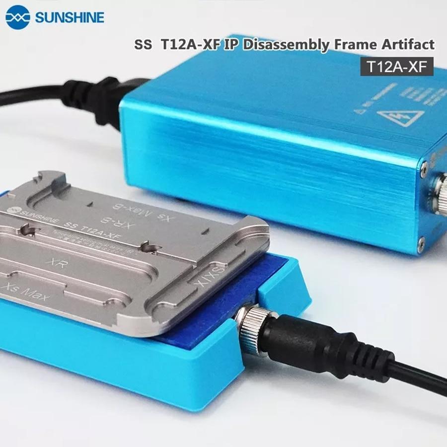 Sunshine SS-T12A XF IP 4 en 1, máquina de eliminación rápida de marco para iphone X XR XS MAX, eliminación eficiente de pegamento de calefacción rápida