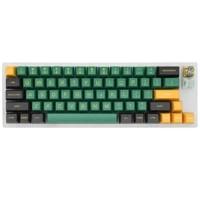 customized yc66 mechanical keyboard rgb switch smd led type c usb interface acrylic shell side light