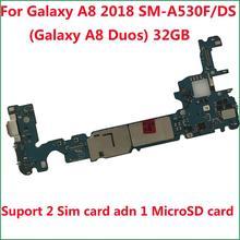 BINYEAE carte mère principale déverrouillée 32GB carte mère pour Samsung Galaxy A8 2018 A530F SM-A530F/DS(Galaxy A8 Duos A530FD)