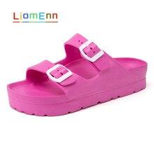 ฤดูร้อนรองเท้าแตะผู้หญิงรองเท้าแตะชายหาดรองเท้าแตะแบนสีชมพูสีแดงสีดำสีขาวสไลด์2021 EVA รองเ...