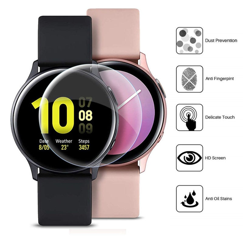 Мягкая Гидрогелевая защитная пленка 9D для Samsung Galaxy Watch Active 2 44 мм 40 мм, пленка для защиты экрана, устойчивая к царапинам (не стекло)