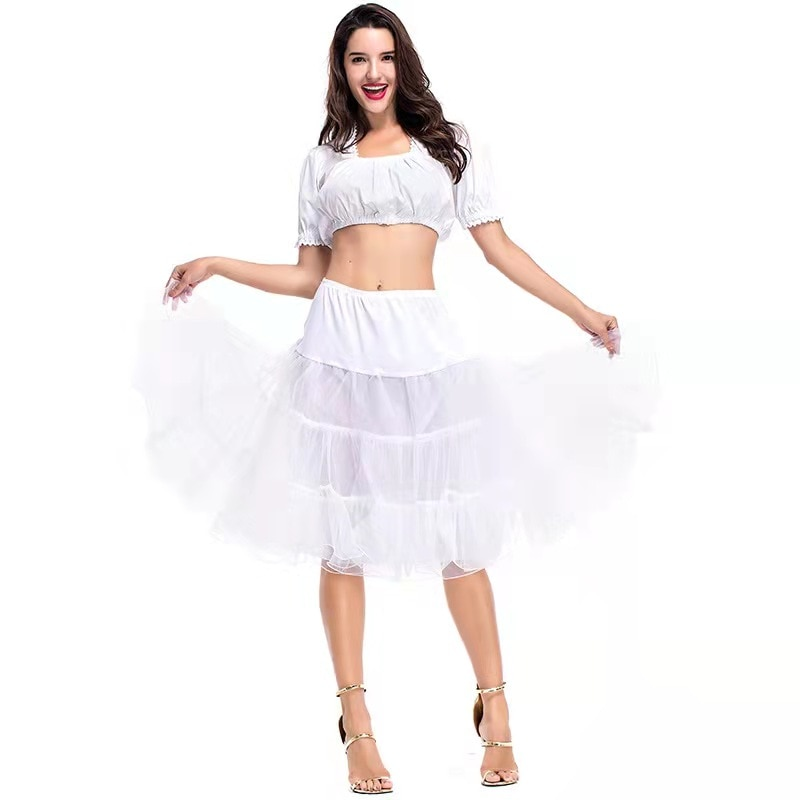Новая женская юбка на Хэллоуин, средние и длинные подъюбники, одежда для выступлений, платье принцессы, пушистые средние и длинные