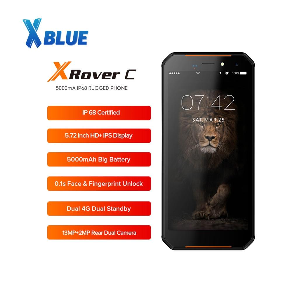 Смартфон LEAGOO XRover C IP68, мобильный телефон, экран 5,72 дюйма, IPS, 2 гб озу 16 гб пзу, 13 мп, NFC, 5000 мач, отпечаток лица, 4G LTE