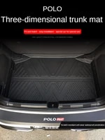 auto car mats for volkswagen polo cargo liner durable waterproof tpo trunk mat protection carpet accessories interior 2016 2021