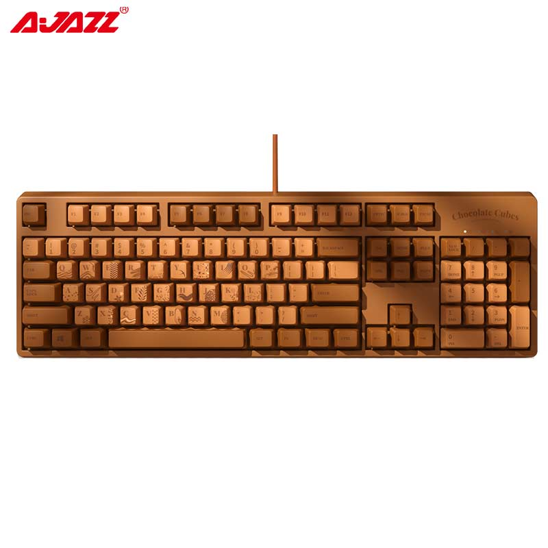 AJAZZ 104 Keys PBT Cherry Switch Mechanical Gaming Keyboard Professnal Mechanical Gamer Keyboard 104 Keys N-key Rollover Wired